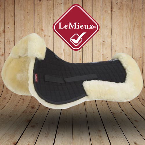 LeMieux Sheepskin Natural Balck Wool Saddle Pads