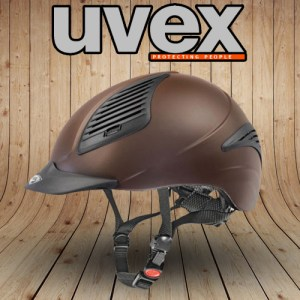 Uvex riding helmet brown