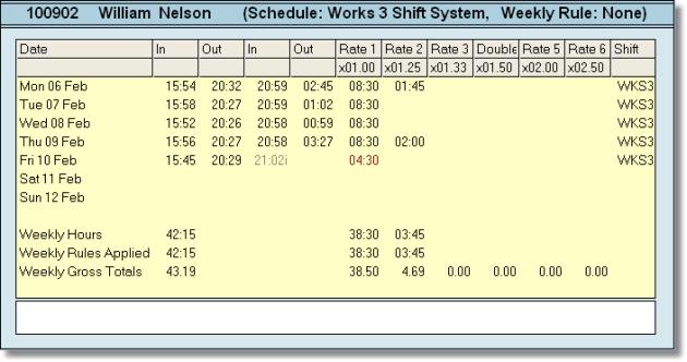 Focus software schedule TimeSheet