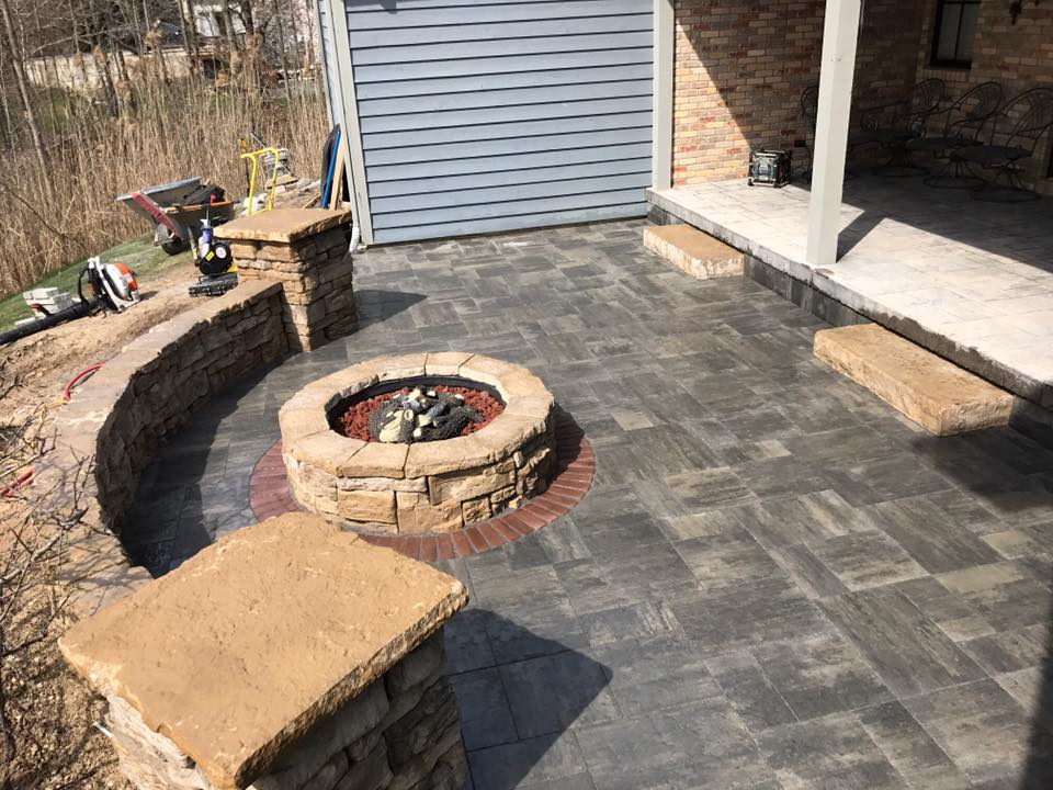 fire pit clearbrook landscaping