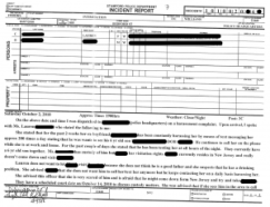 One of police incident report
