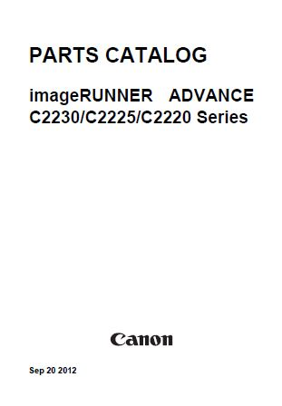 CANON imageRUNNER ADVANCE C2220, C2225, C2230 Service