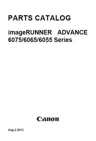 CANON imageRUNNER ADVANCE 6075, 6065, 6055 Series Service