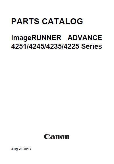 CANO ADVANCE 4251, Service Manual and Parts Manual.