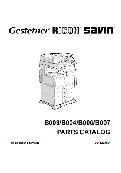 GESTETNER 3502, 4502, Service Manual and Parts Manual
