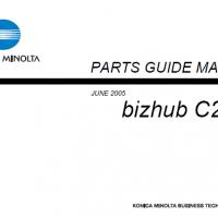 KONICA MINOLTA bizhub C250 and C252 Service Manual and
