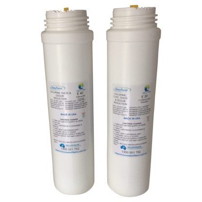 Easy Twist e20 and e40 water filter cartridges