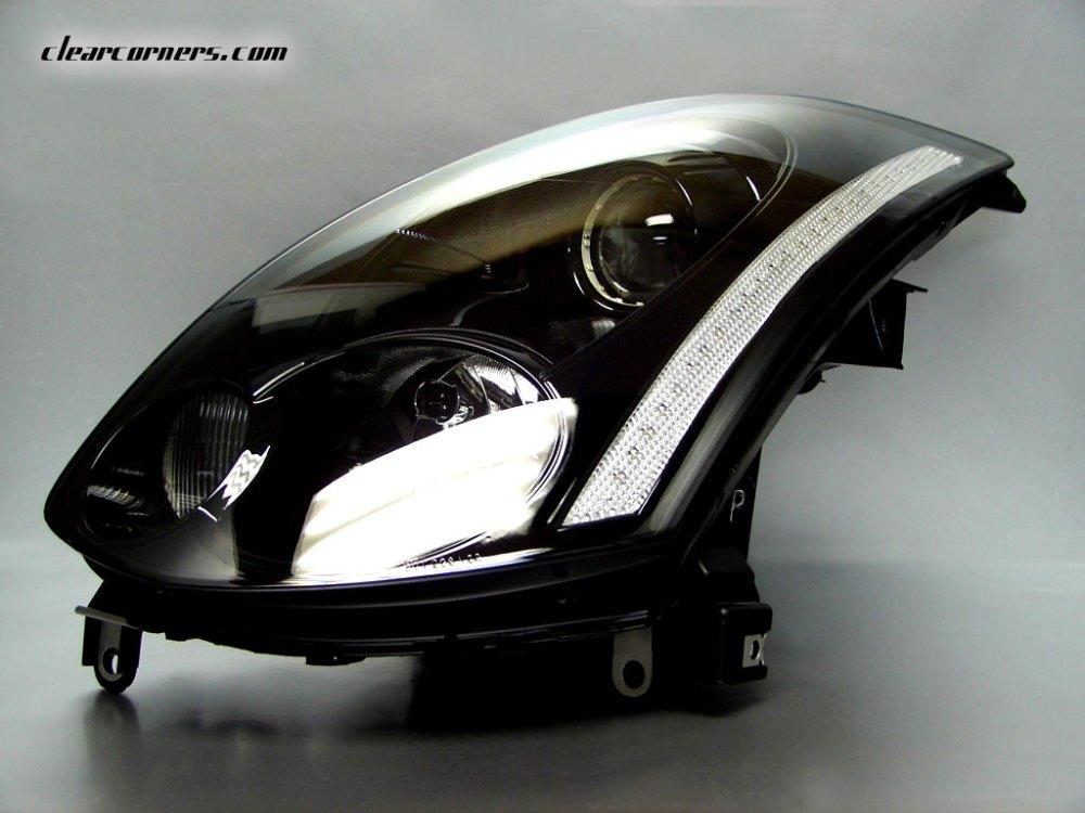 medium resolution of headlight clear reflector strip