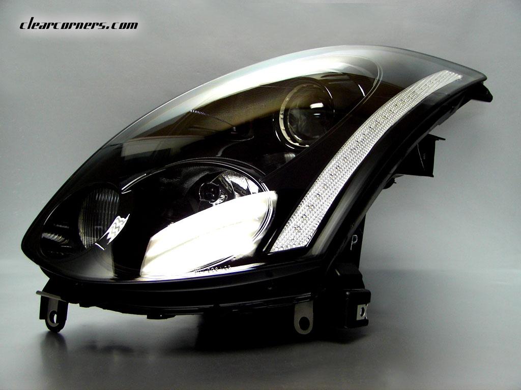 hight resolution of headlight clear reflector strip