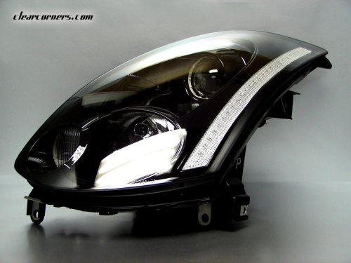 small resolution of headlight clear reflector strip