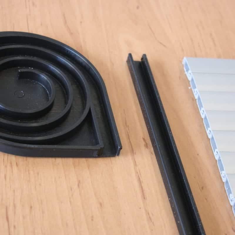 Tambour Door Kit  Gloss Black for your VW camper van