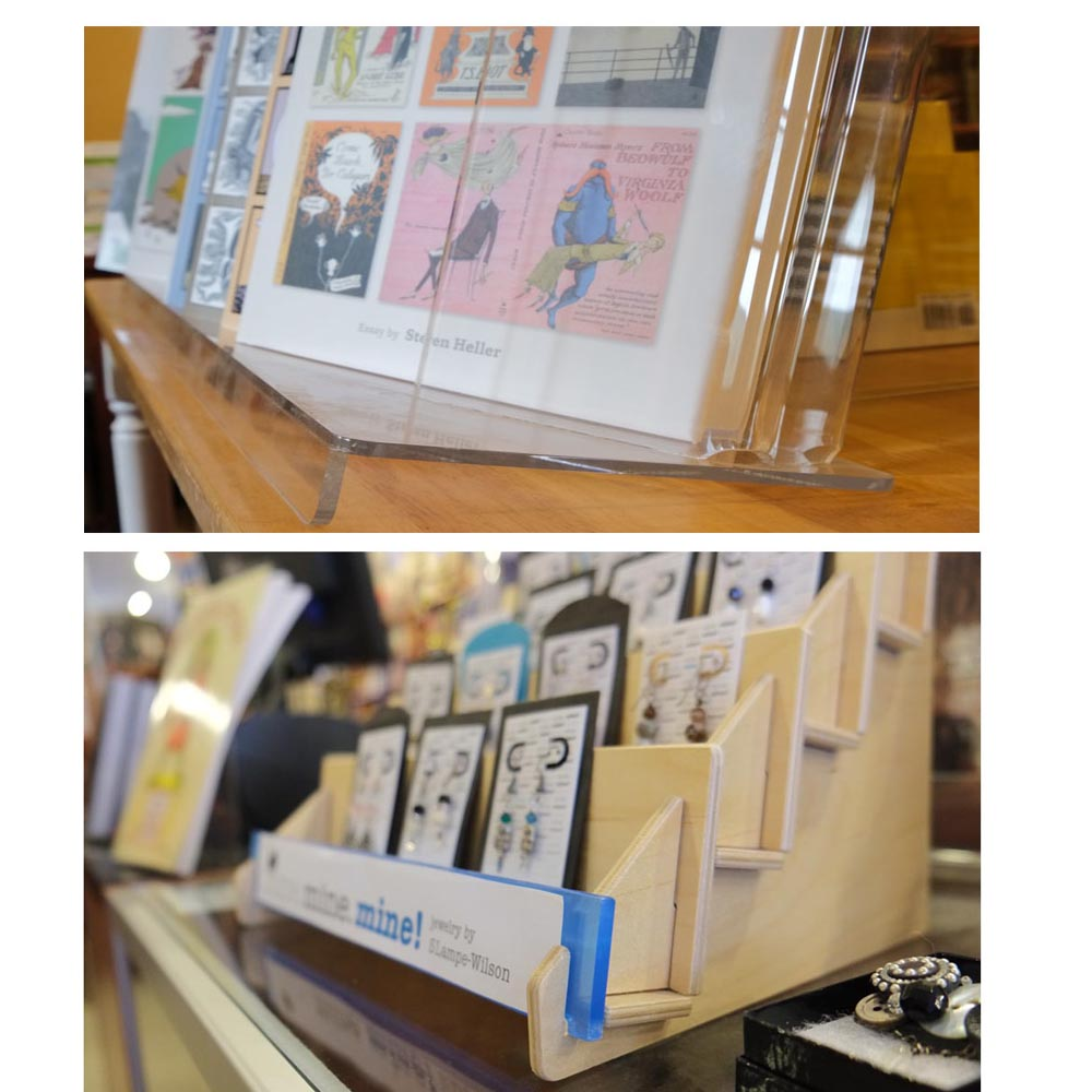greeting card holders rack and