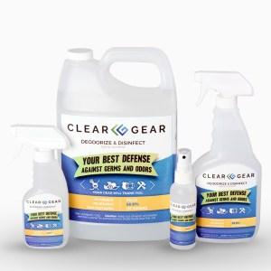 4 oz 1 Gal Bottle Case | Sports Odor Eliminator Spray - Clear Gear