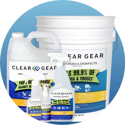 Clear Gear Spray Disinfectant & Deodorizing