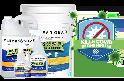 Clear Gear Spray Disinfectant Kills Covid