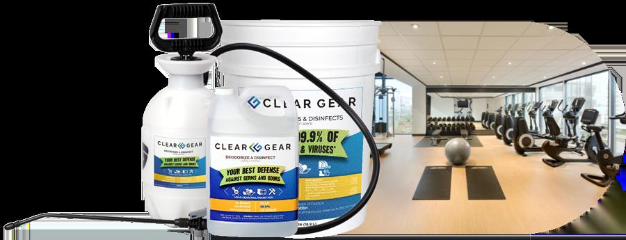 Gym Disinfectant Spray Clear Gear
