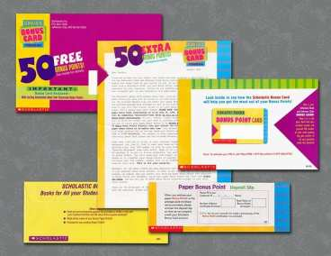 Direct mail package for teachers to order books in classroom