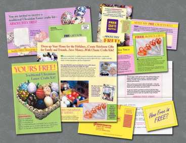 Direct mail package for craft kit
