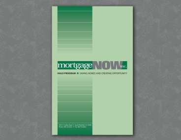 Mortgage NOW Logo and Portfolio Folder