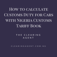Nigeria Customs Tariff Book for Cars in 2020