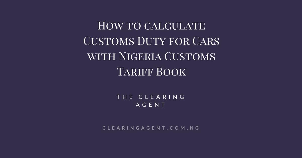 Nigeria Customs tariff book | valuation