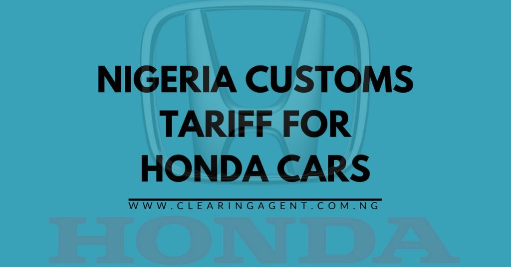 Check custom duty online in Nigeria 2018