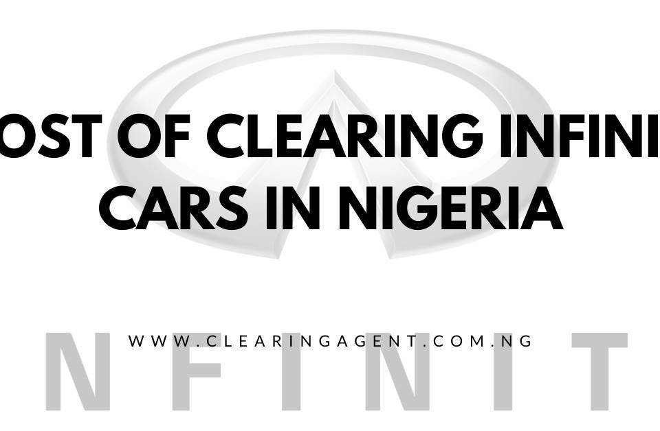 Cost of clearing Infiniti Cars