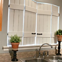 Kitchen Shutters Kitchenaid White Distressed Clearissa Coward S Command Center Transitioning To Farmhouse Style