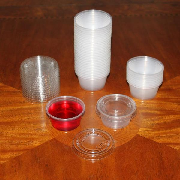 40 - 2 Oz Jello Shot Cups With Lids Souffle Cup Shots