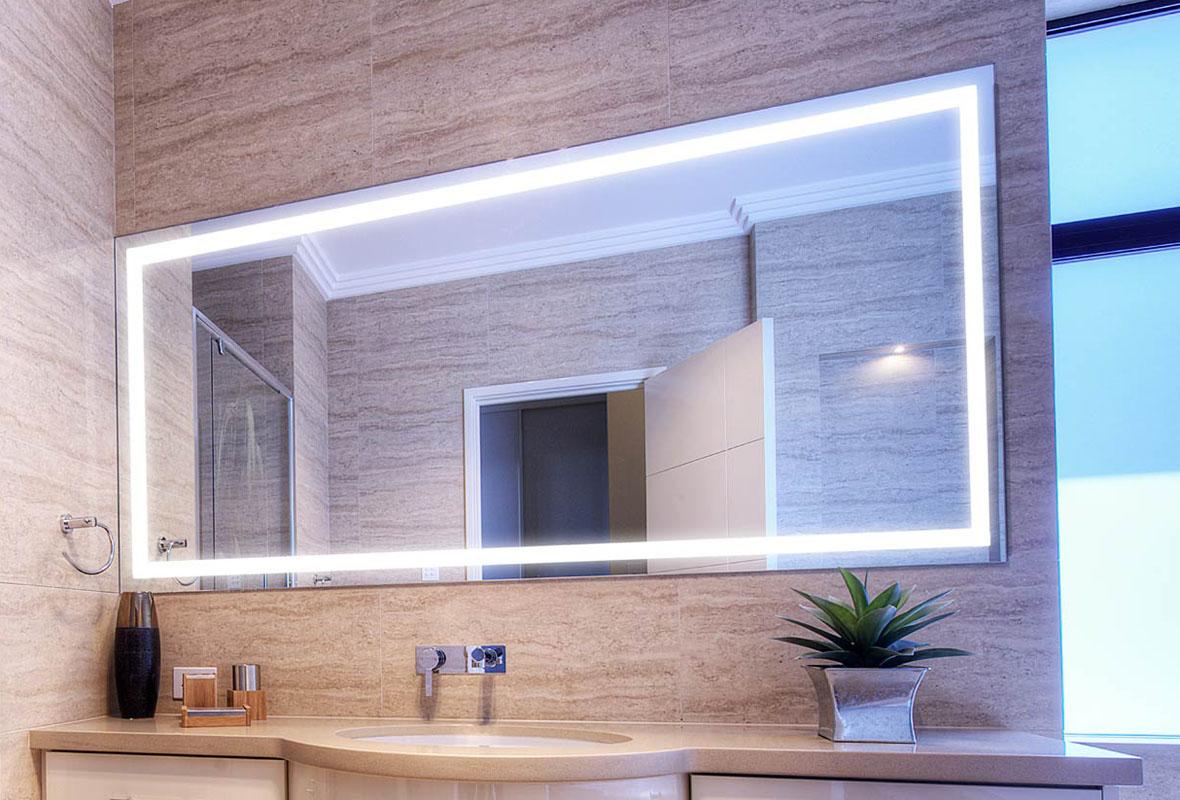 Verge Lighted Bathroom Mirror