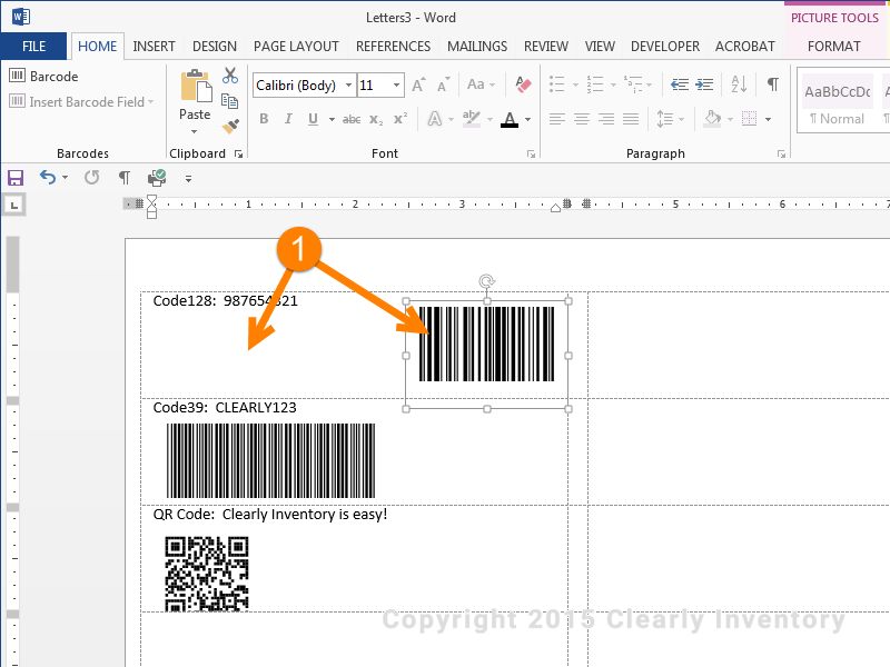 How To Print Barcodes With Excel And Word - Clearly Inventory
