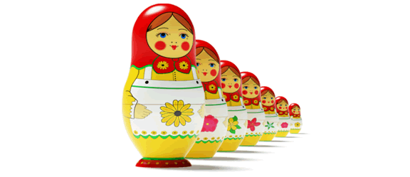 Nested dolls as a metaphor for the inspiration behind our online inventory software