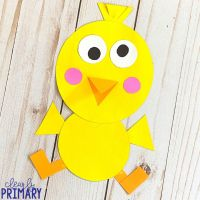 Spring Chick Shape Craft
