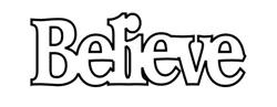 Clear Scraps Blog: Believe Sign