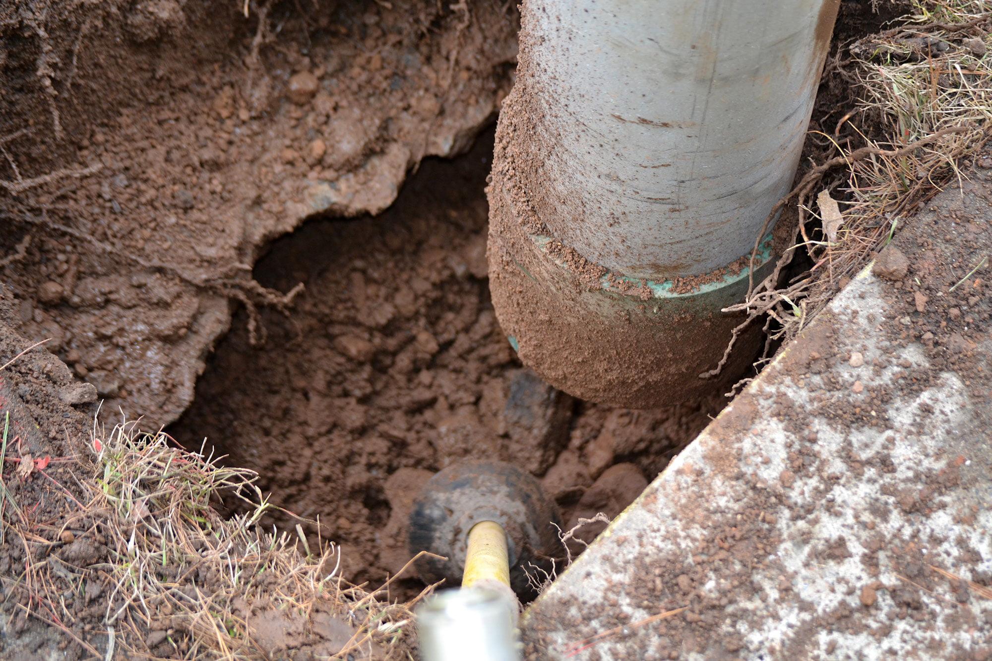 vacuum excavation close up