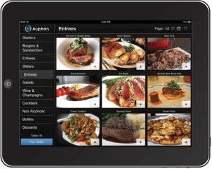 enterprise menu with photos