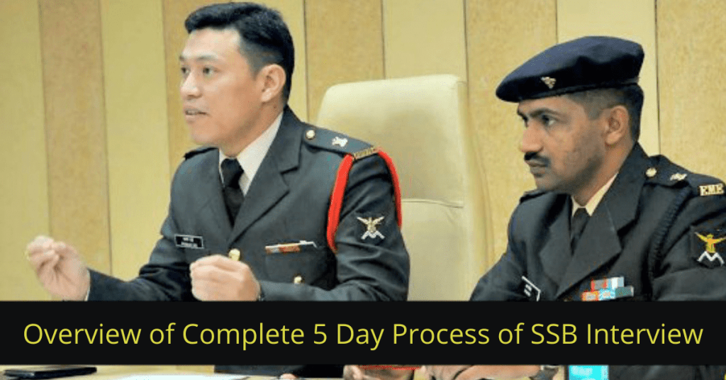 Overview of Complete 5 Day Process of SSB Interview