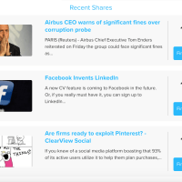 """Find out who"" is clicking on your shares with ClearView Social's latest update"