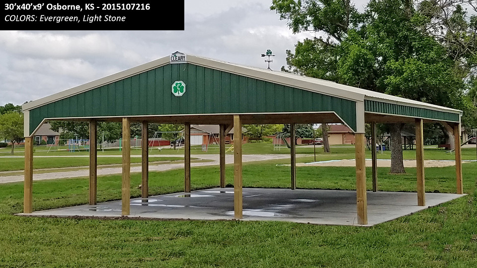 Park Shelter Buildings  Cleary Building Corp