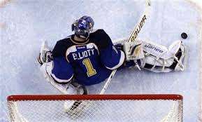 St. Louis Blues current goalie Bryan Elliott.