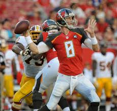 Bucs QB Mike Glennon in action during a win against the Redskins