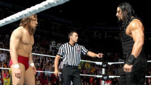 Daniel Bryan and Roman Reigns are fighting for the opportunity to be in the main event at Wrestlemania