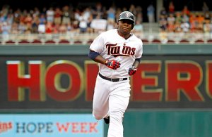 Minnesota Twins designated hitter Miguel Sano. (AP Photo/Ann Heisenfelt)
