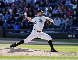 Chicago White Sox relief pitcher David Robertson. Mandatory Credit: Kamil Krzaczynski-USA TODAY Sports