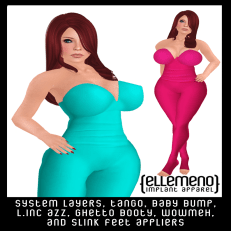 ! ellemeno ! strapless body suit for Lubbly Jubblies