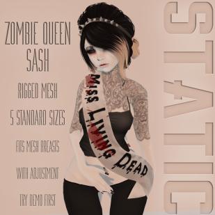 Static - Zombie Queen Sash AD