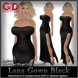 GD Lana Gown Black
