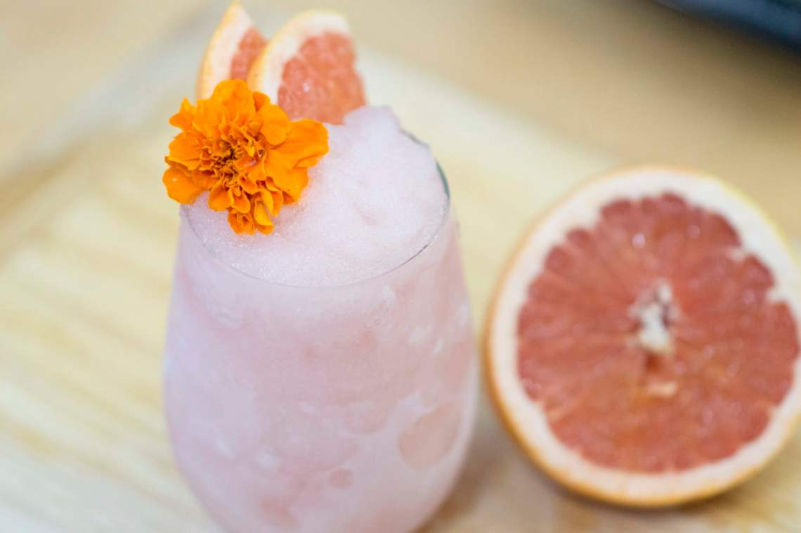 The Grapefruit Frose served and ready to drink