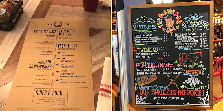 Lunch Menu Vs Dinner Menu