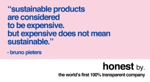 Quote about sustainability of Honest by